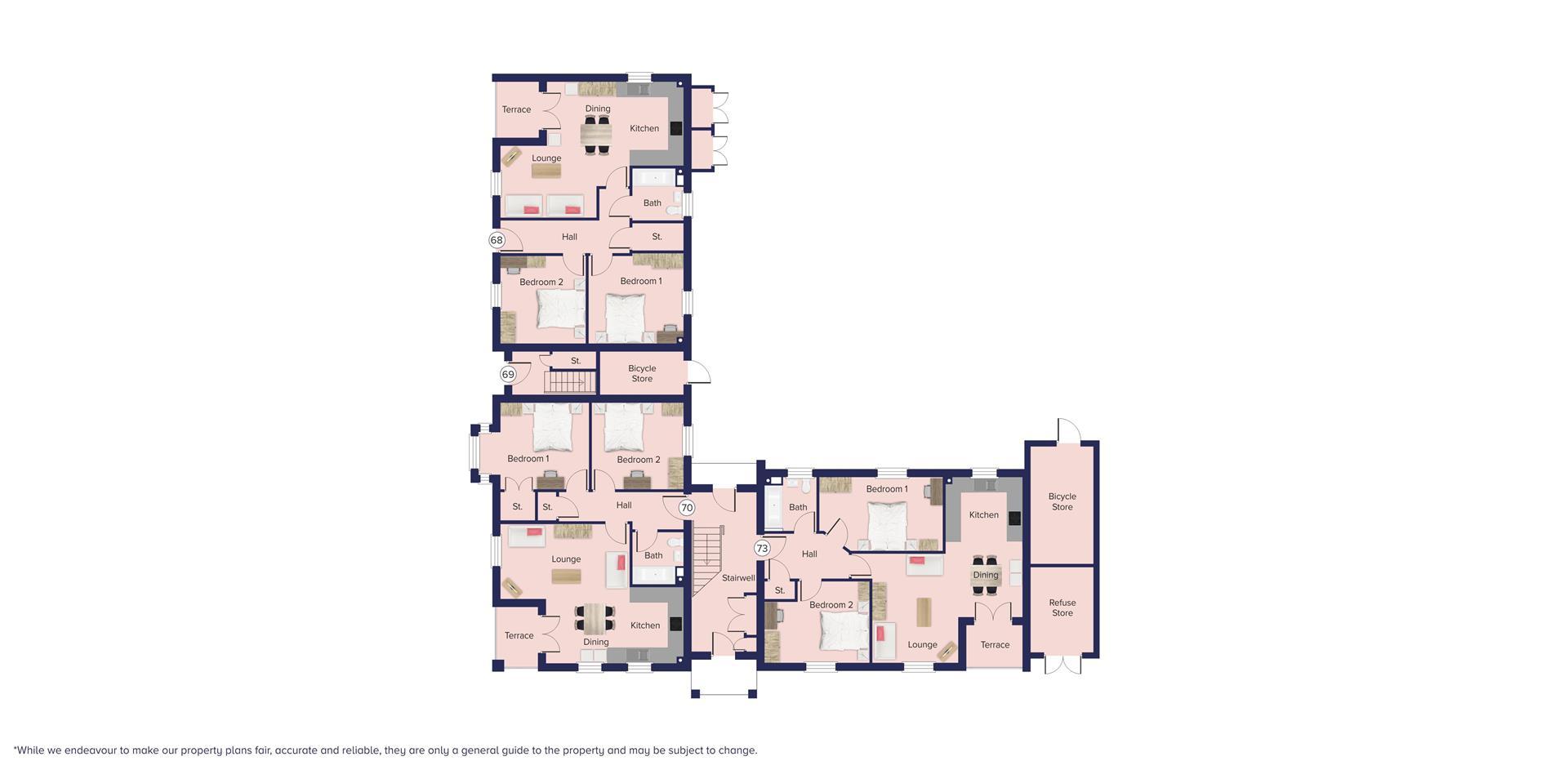 Kingfisher Grange, Bursledon_Floor plate_Plots 68,